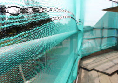 Image of University of Kent commercial scaffolding project safety netting