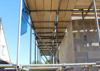 Image of Mickleburgh Hill domestic scaffolding project under boards