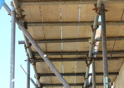 Image of Mickleburgh Hill domestic scaffolding project boards