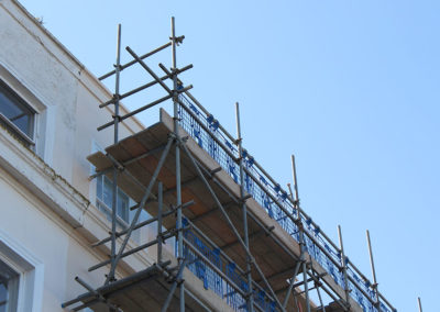 Image of St Georges Terrace domestic project scaffolding corner